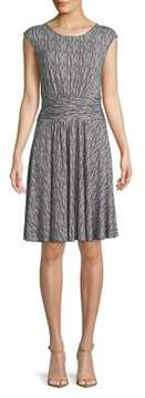 Context Printed Cap-Sleeve Dress