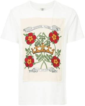 Kent & Curwen rose and crown patch T-shirt