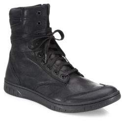 Diesel S-Boulevard Leather Ankle Boots