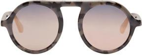 Stella McCartney Black Mirrored Round Sunglasses