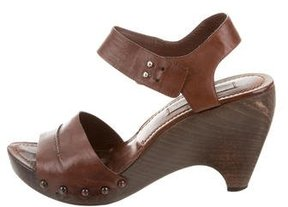 CNC Costume National Leather Wedge Sandals