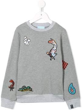 Lanvin Enfant patched sweatshirt