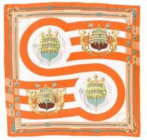 Hermes Chateaux d'Arriere Scarf