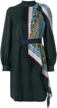 Kolor scarf panelled dress
