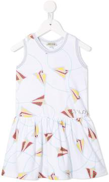 Kenzo paper plane printed dress