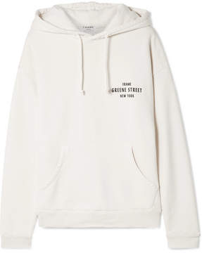 Frame Oversized Printed Cotton-fleece Hooded Top - Off-white