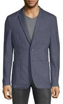 Saks Fifth Avenue BLACK Tonal Elbow Sport Jacket