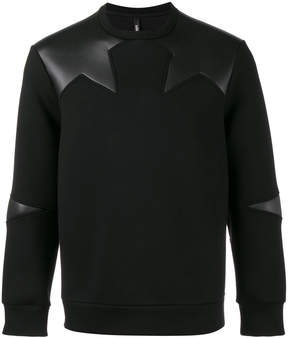 Neil Barrett star appliqué sweatshirt