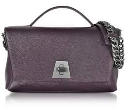 Akris Women's Purple Leather Shoulder Bag.