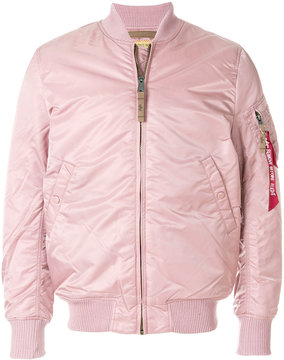 Alpha Industries fitted bomber jacket