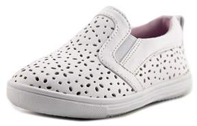 Rachel Lil Delray Toddler Round Toe Synthetic White Loafer.