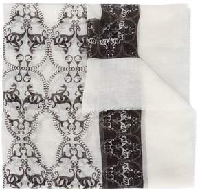 Thomas Wylde Skull Illusion printed scarf