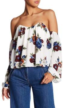 Dee Elly Off-the-Shoulder Floral Blouse