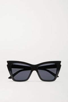 Le Specs Rapture Cat-eye Acetate Sunglasses - Black