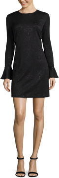 Libby Edelman Bell Sleeve Sheath Dress