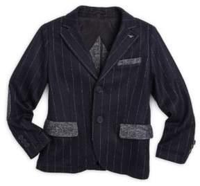 Armani Junior Little Boy's & Boy's Striped Wool Blazer