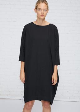 Black Crane Black Bud Dress