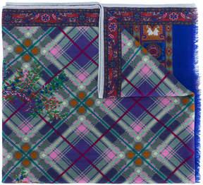 Etro mixed print scarf