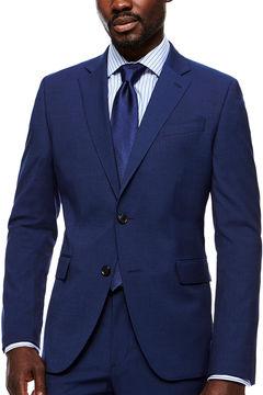 Jf J.Ferrar JF Stretch Texture Med Blue Jacket- Slim Fit