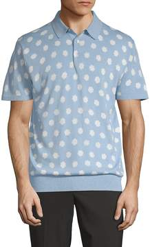 French Connection Men's Superfine Printed Polo