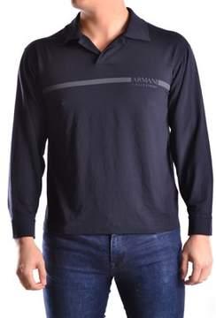 Armani Collezioni Men's Black Viscose Polo Shirt.