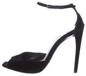 Christian Dior Velvet Ankle Strap Sandals