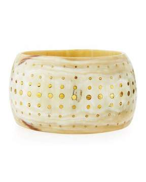 Ashley Pittman Mfalme Studded Light Horn Bangle
