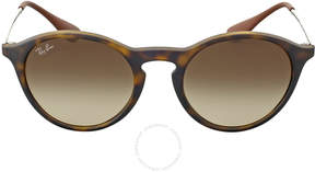 Ray-Ban Round Brown Gradient Sunglasses