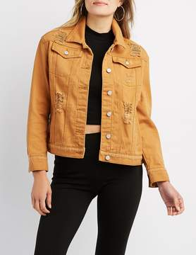 Charlotte Russe Refuge Destroyed Denim Jacket