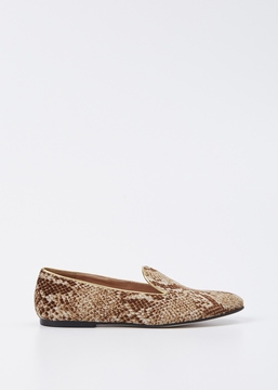 Dries Van Noten Sand Velvet Snake Slip On