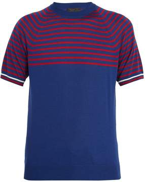 Prada Striped cashmere and wool T-shirt