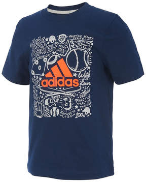 adidas Navy 'Here to Create' Future Sport Tee - Toddler