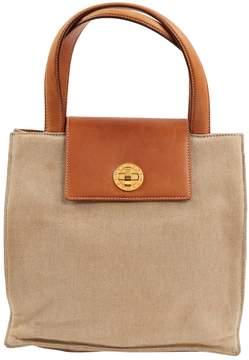 Bulgari Beige Cotton Handbag