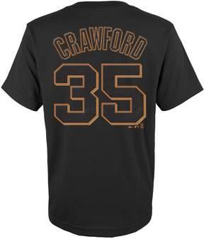 Majestic Boys 4-18 San Francisco Giants Brandon Crawford Player Name and Number Tee