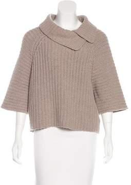Peserico Rib Knit Short Sleeve Sweater