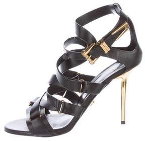 Versace Leather Cage Sandals