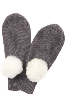 Rachel Riley Girls' Grey Cashmere-Blend Mittens