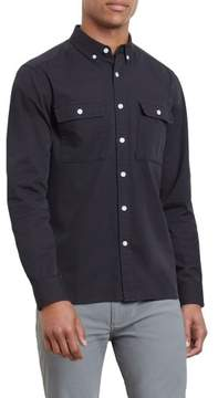 Kenneth Cole New York Reaction Kenneth Cole Long-Sleeve Cavalry Twill Shirt - Men's