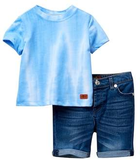 7 For All Mankind Top & Shorts Set (Baby Boys)