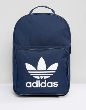 adidas Trefoil Backpack In Collegiate Navy With Front Pocket BK6724