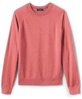 Lands' End Lands'end Men's Cotton Cashmere Crewneck Sweater