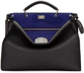 Fendi Grey and Blue Peekaboo Briefcase