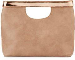 Neiman Marcus Metallic-Trim Handheld Tote Bag