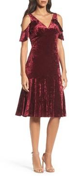 Adrianna Papell Women's Cold Shoulder Velvet Dress