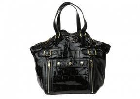 Saint Laurent Downtown patent leather handbag - BLACK - STYLE