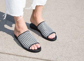 Freda Salvador Pure Woven Slip On Sandal