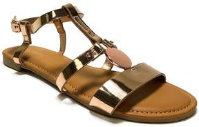 Bamboo Rose Gold Magical T-Strap Sandal - Women