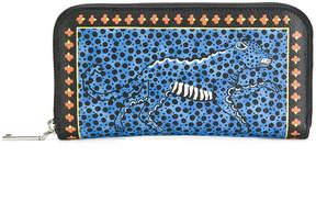 Etro cheetah print continental wallet