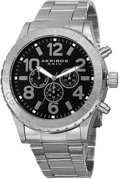 Akribos XXIV Grandiose Black Dial Multi-Function Men's Watch
