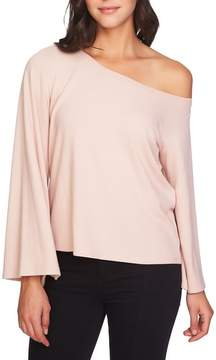 1 STATE 1.STATE The Cozy Bell Sleeve One Shoulder Top